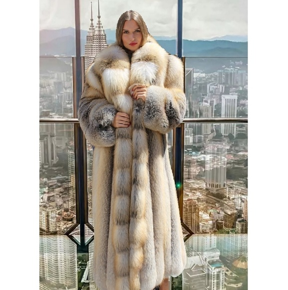 c1ad988cb6 Full Length Golden Island Fox Fur Coat. Boutique. Marc Kaufman Furs